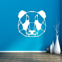 PANDA.jpg Download STL file PANDA DECO • 3D printer template, mistic-3d