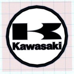 Capturagcghcg.PNG Download STL file kawasaki flag • 3D printer design, mistic-3d