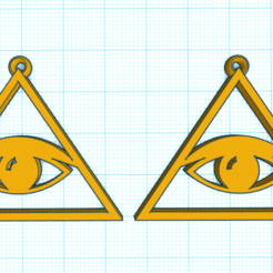 CapturaBBHV.PNG Download STL file ALL-SEEING EYES EARRINGS • 3D printing model, mistic-3d