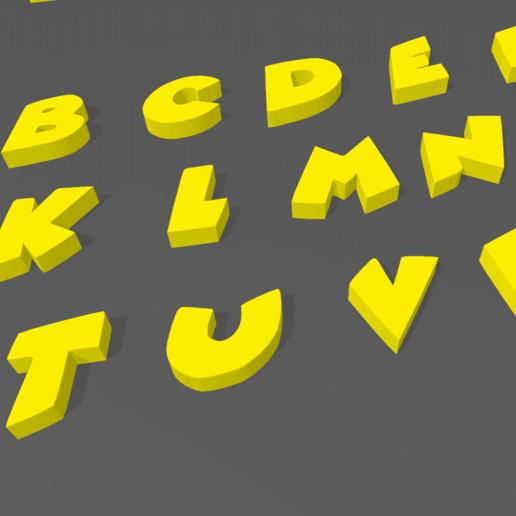 Screenshot_3.png Download STL file LETTERS AND NUMBERS 3D COMIC • 3D printable design, mistic-3d