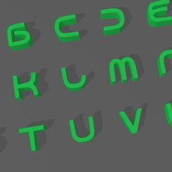 XDFGHKJ,L-.JPG Télécharger fichier STL LETTRES D'ANDRIOD • Objet à imprimer en 3D, mistic-3d