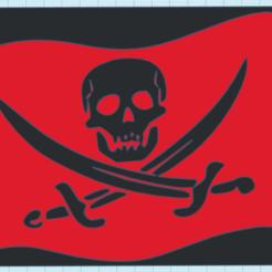 CapturaHGHG.PNG Download STL file PIRATE FLAG • 3D printing design, mistic-3d