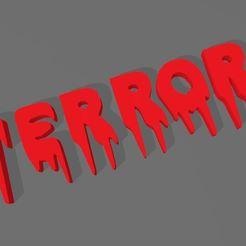 CapturaR5T6Y7UI.JPG Download STL file TERROR LETTERS • 3D printing object, mistic-3d