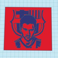 Descargar archivo STL messi barsa cuadro 3d • Objeto para imprimir en 3D, mistic-3d