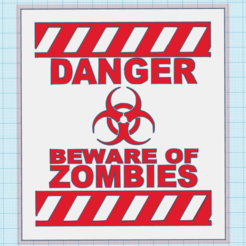 Captura.PNG Download STL file DANGER ZOMBIES TABLE 3D • 3D print design, mistic-3d