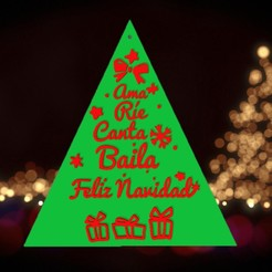 R6T7YI.jpg Download STL file CHRISTMAS TREE WITH FRASES🎅🎄 • 3D printer model, mistic-3d