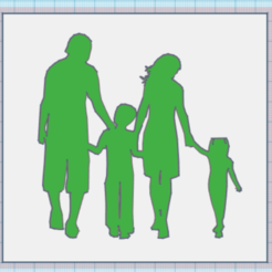 Descargar archivo 3D FAMILY CUADRO 3D, mistic-3d