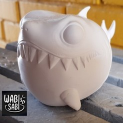 11.jpg Download STL file Fat chibi shark 3D print model • 3D printer object, Wabisabi3D