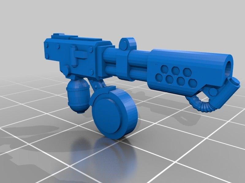 c0a3f24f2ec400b077c91b490fed59e2_display_large.jpg Download free STL file Chrono Trigger Shoulder Mounted Flamer • 3D printable object, FelixTheCrazy