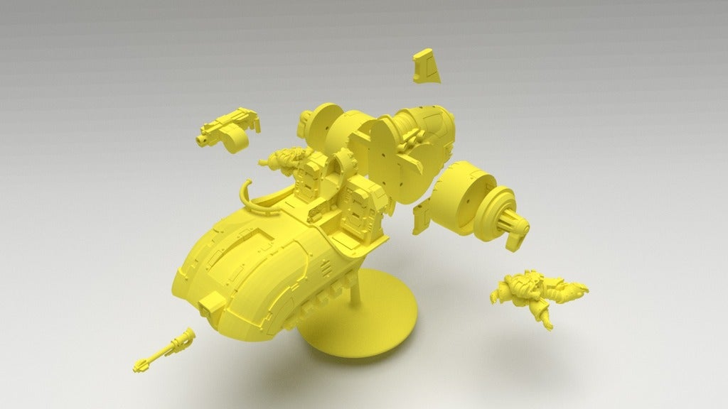 846d19ecee842e592a4fffe989bf4245_display_large.jpg Download free STL file Angry Air - Frugal Displeased Soldier Deployment Vessel • 3D printing model, FelixTheCrazy