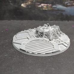 Download free STL file Remixed 90mm base for Redemptor Dreadnought • 3D printer design, FelixTheCrazy