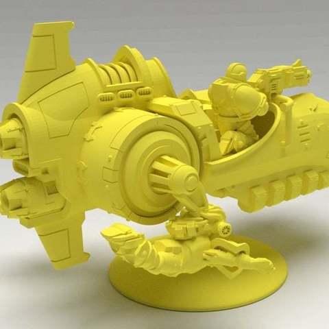 c9d6925587f45378ca4771c6225835a0_display_large.jpg Download free STL file Angry Air - Frugal Displeased Soldier Deployment Vessel • 3D printing model, FelixTheCrazy