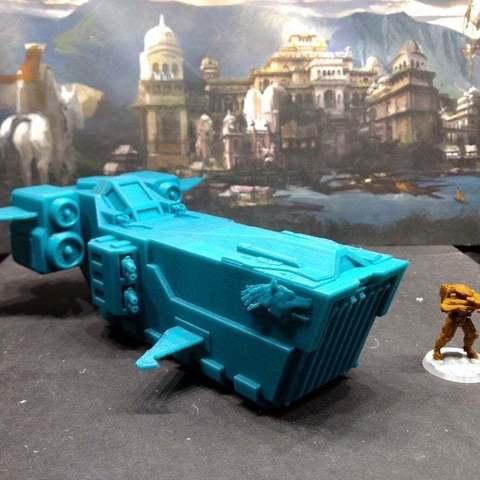 Télécharger fichier imprimante 3D gratuit Wolven Space Ship Transport, remix, FelixTheCrazy