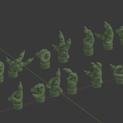 HandsThingi.png Download free STL file Kombat and Kommand, Cannibal Chicken hand poses • 3D print template, FelixTheCrazy