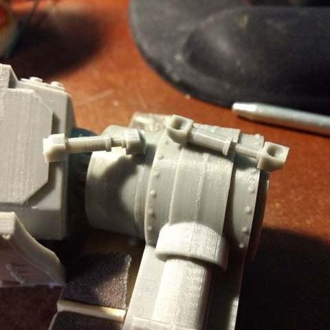 Impresiones 3D gratis Pistones Ajustables para Tipos de Soldados Interestelares en Perros Gigantes de Guerra, FelixTheCrazy