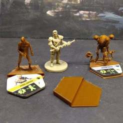 Download free 3D printing templates Fallout Board Game Enemy base, FelixTheCrazy