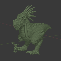 StormChicken.png Download free STL file Krooduken Rex, Bird of War • 3D printing object, FelixTheCrazy