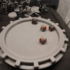 IMG_20191117_085453463.jpg Download free STL file AdMech Dice Tray • Object to 3D print, FelixTheCrazy