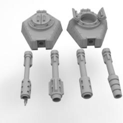 Descargar Modelos 3D para imprimir gratis Torretas de Tanques de Llamas del Ejército Interestelar, Mkhand_Industries