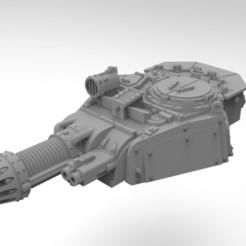 Descargar archivos STL gratis Complemento de torreta de tanque del Ejército Interestelar - Descargador de plasma, Mkhand_Industries