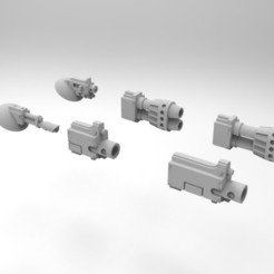 Descargar archivo 3D gratis Armas montadas en el casco del portaaviones del Ejército Interestelar, Mkhand_Industries