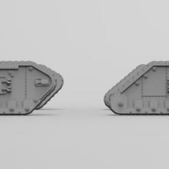 Descargar archivo STL gratis El Ejército Interestelar Lemoine Russel Tank Sides • Objeto para impresión 3D, Mkhand_Industries