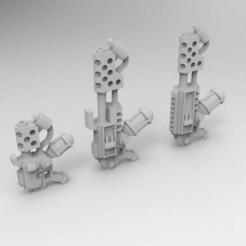 Descargar archivos 3D gratis Barbacoas de mano interestelares del ejército y de la cabeza de artillería, Mkhand_Industries