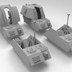 Descargar archivos STL gratis El Ejército Interestelar de Artillería Autopropulsada Middles, Mkhand_Industries