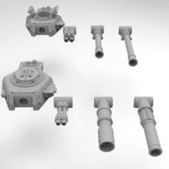 Descargar archivo 3D gratis Torretas de vehículos de combate de la Infantería del Ejército Interestelar, Mkhand_Industries