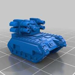 Download free STL Epic Scale Wyvern Suppression Tank v2, Mkhand_Industries