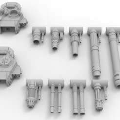 Descargar archivo STL gratis Torretas de Tanque Lemoine Russel del Ejército Interestelar • Diseño para la impresora 3D, Mkhand_Industries
