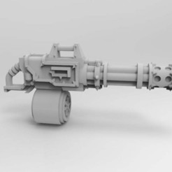 Download free 3D printer designs Rebellious Interstellar Jarhead Chaingun, Mkhand_Industries