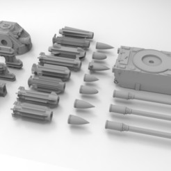 Download free 3D printer templates Interstellar Army Anti-Air Artillery, Mkhand_Industries