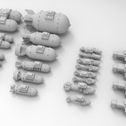 Descargar modelos 3D gratis Aeronáutica Imperial & Ork Armas & Bits, Mkhand_Industries