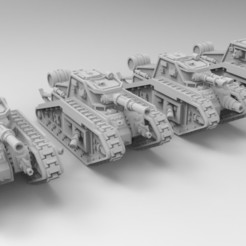 Download free 3D printer designs Epic Scale Malcador Heavy Tank, Mkhand_Industries