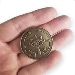sheikah coin.jpg Download STL file Sheikah Coin • 3D printer design, bycoloitu