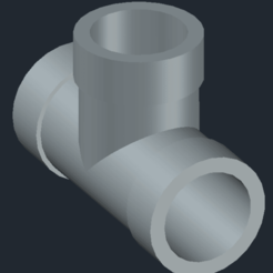 tee pipe2.png Download STL file Tee pipe • 3D printable design, coman_daniela_simona
