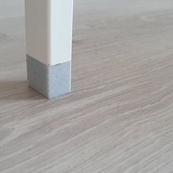 """Download free 3D printing files Extension for Ikea table legs model """"Alex"""", WraithSpark"""