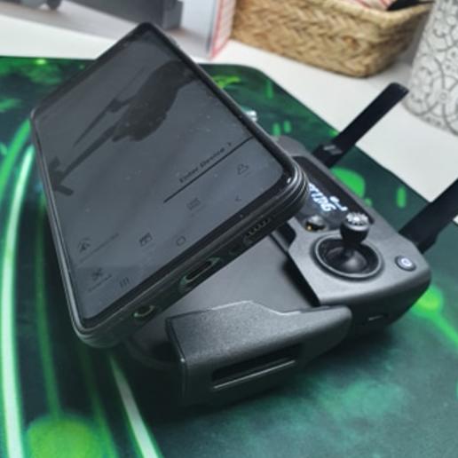 Download free 3D printing models Magnetic Phone Holder For Radio Remote Control DJI Mavic, WraithSpark