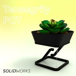 3.jpg Descargar archivo STL Tensegrity Pot • Modelo para la impresora 3D, SamMedinaIMC