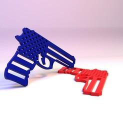 Descargar archivos STL gratis AMERICA GUN, SamMedinaIMC