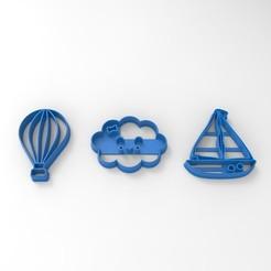 Principito.440.jpg Télécharger fichier STL Nuage - navire - ballon à air chaud • Plan à imprimer en 3D, sondrob