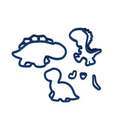 untitled.6.jpg Download STL file Cookie Cutter Dinosaurs • Design to 3D print, sondrob
