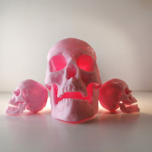 Download free 3D printer files SKULL LAMP - HighPoly3DScan, extreme3dprint