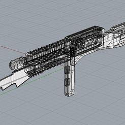 Descargar archivo 3D gratis Cylon Rifle Battllestar Galactica Prop arma de impresión 3D a escala 1:1, Harada357
