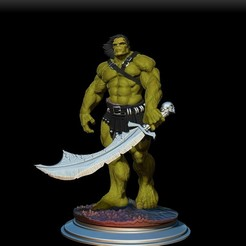 Download 3D printer files hulk skaar, dimka134