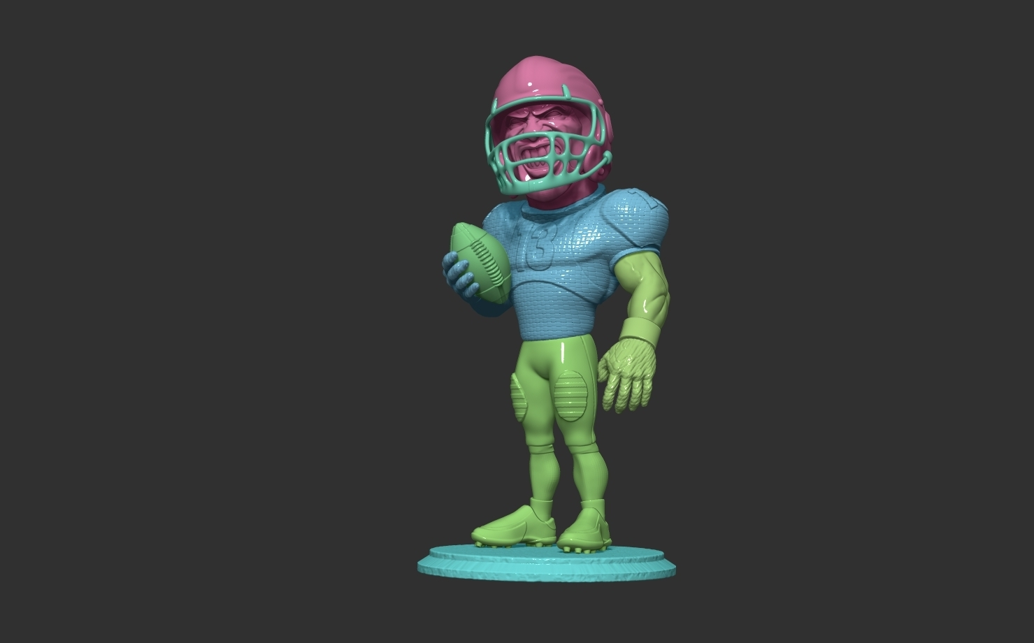 ZBrush Document5.jpg Download free OBJ file football player • 3D printer object, dimka134russ
