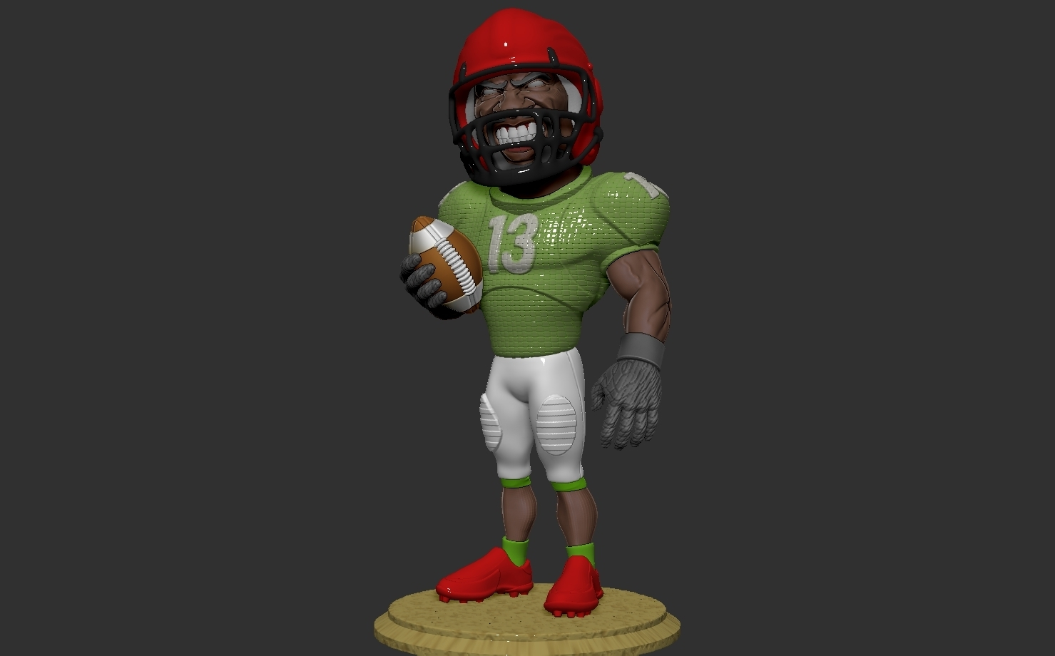 ZBrush Document.jpg Download free OBJ file football player • 3D printer object, dimka134russ