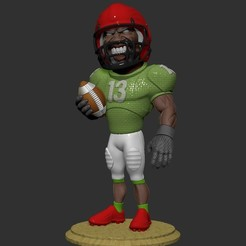 Download free OBJ file football player • 3D printer object, dimka134russ