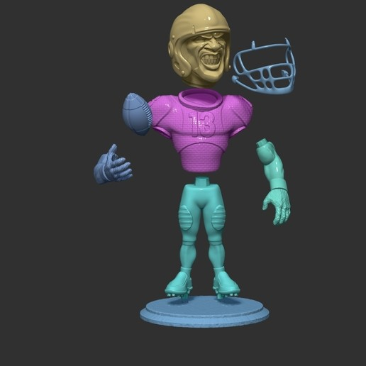 ZBrush Document67.jpg Download free OBJ file football player • 3D printer object, dimka134russ
